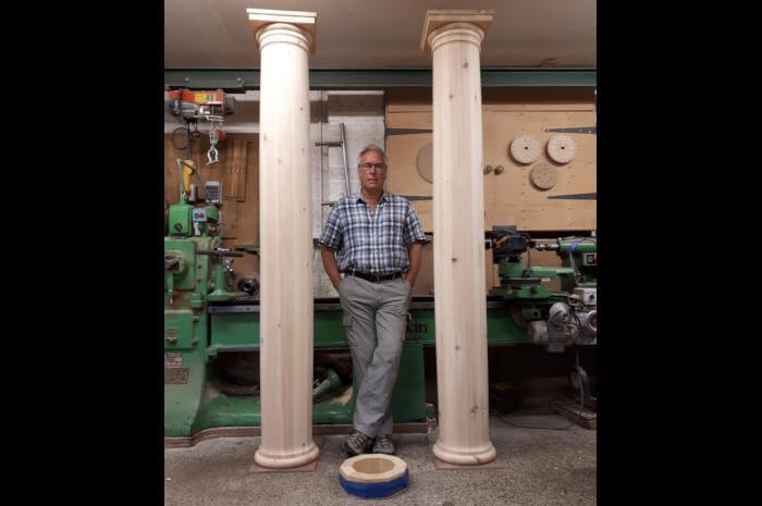 woodturned columns
